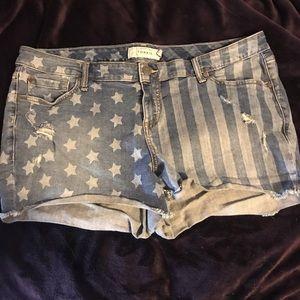 American Flag Torrid Shorts